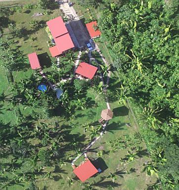 Green Valley Inn Belize aus der Luft
