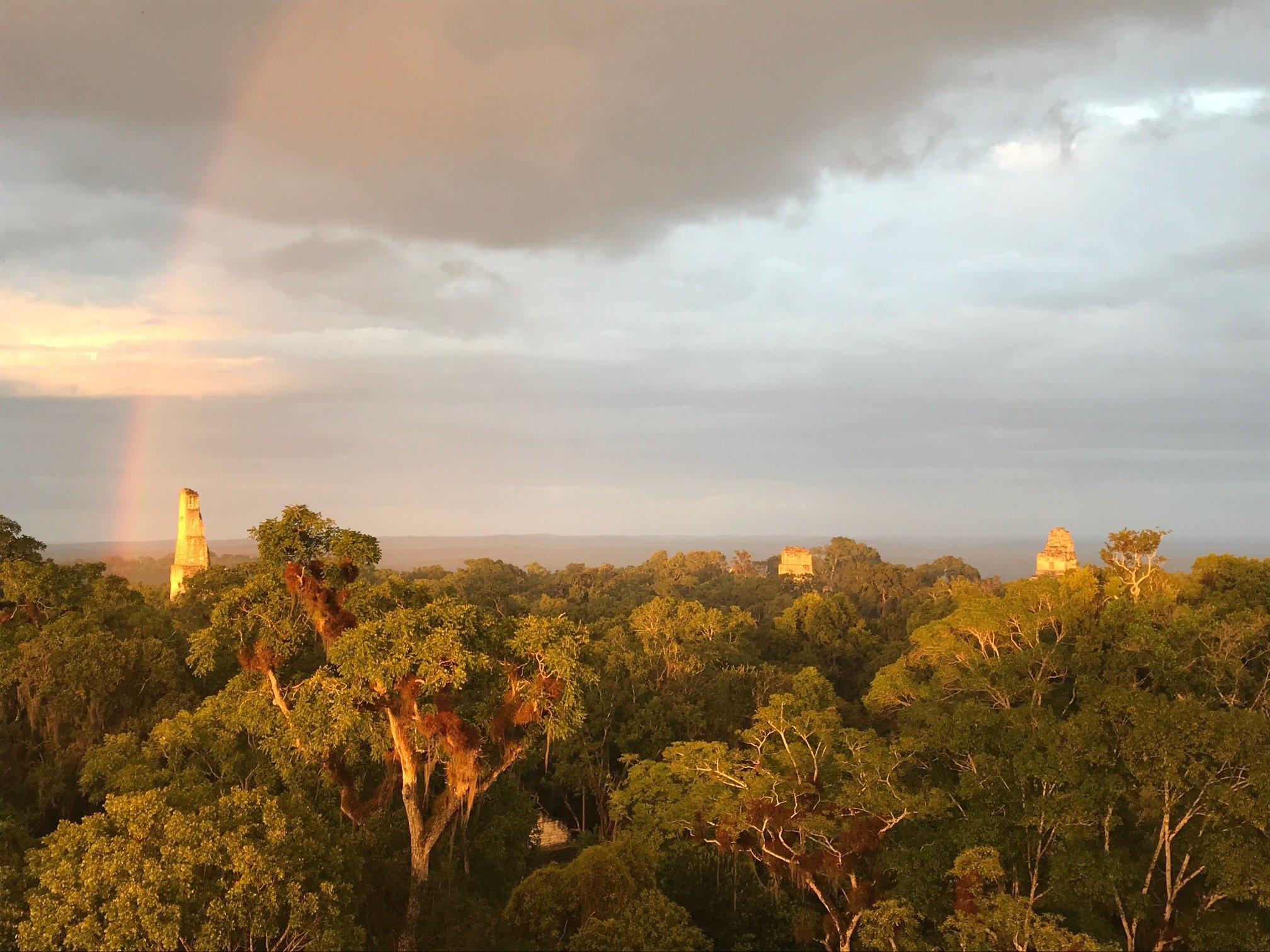 Tikal Tour, Sonnenuntergang